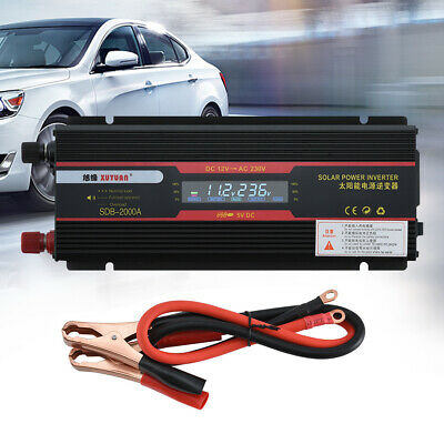 Pure Sine Wave Inverter 3000W 12V-240V Watt  Power Car Caravan Caming