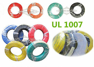 UL1007 30AWG 10M/33FT Electrical Power Wire Cable Cord Stranded Flexible Hook-up