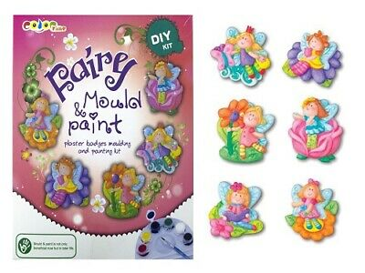 MOULD & PAINT KIT kids fairy art craft painting activity Christmas gift plaster