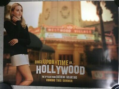 Once Upon A Time In Hollywood ORIGINAL UK QUAD CINEMA POSTER Tarantino Manson