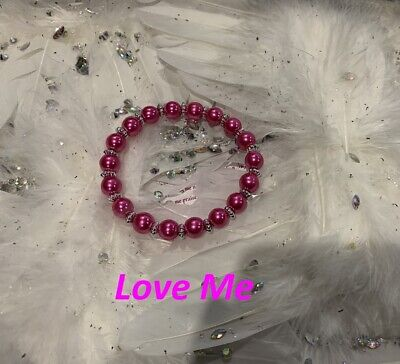 Code 545 Love Me Charged n Infused Necklace Pink Glass Pearls