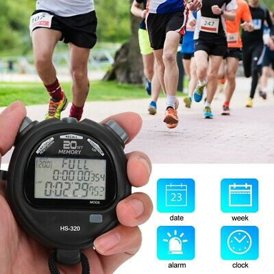 Electronic LCD Timer Digital Sport Stopwatch Time Alarm Counter Chronograph New