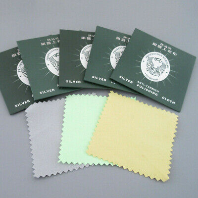 5/10x Silver Polishing Cloth Jewellery Cleaning Cloth Clean Polish Sterling Ring
