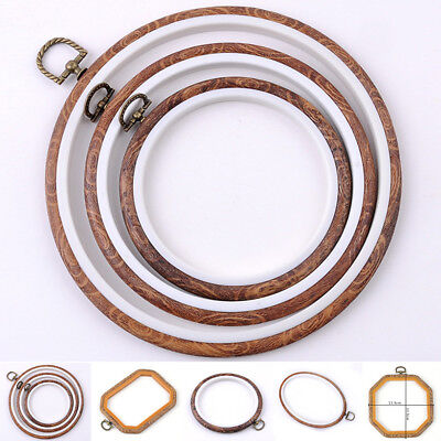 Wooden Cross Stitch Machine Embroidery Hoop Ring Bamboo Sewing 14-25cm