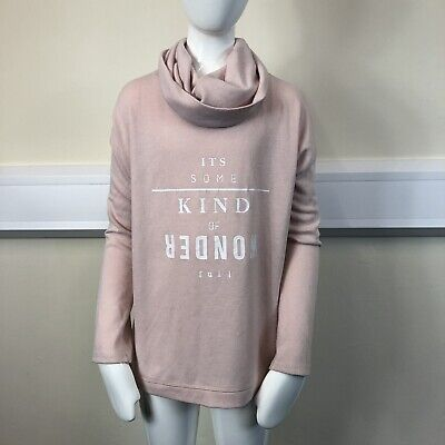 River Island Girls Pink Fine Knit Cowl Neck Long Sleeve Jumper UK Age 9-10 Years