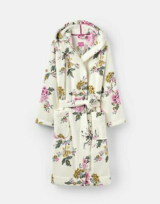 Joules 207375 Fluffy Dressing Gown in CREAM CHINOISE
