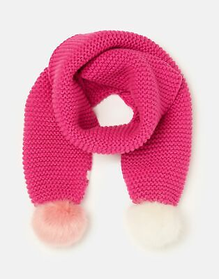 Joules 207160 Pompom Scarf in TRULY PINK in One Size