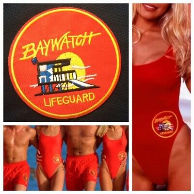 BAYWATCH Lifeguard Patch 💥Iron On Badge 90's TV Party Costume Cosplay Swimsuit
