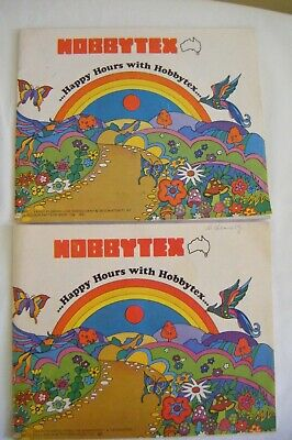 2 x Vintage Hobbytex full colour pattern books