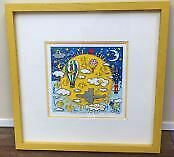 James Rizzy Here Comes The Sun 3D Silk Screen Collectible Authentic Art 1995 L9