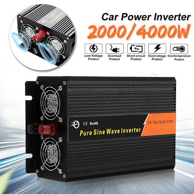 1000-6000W Car Pure / Modified Sine Wave Power Inverter DC 12/24V To AC 110/220V