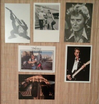 6 carte postale Johnny Hallyday