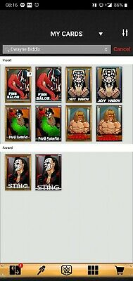 Topps WWE SLAM Digital 2019 Exhibit Dwayne Biddix Complete Set Sting Awards