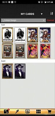 Topps WWE SLAM Digital 2019 Exhibit Topps Design Complete Set Undertaker Awards