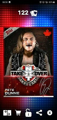 Topps WWE SLAM Digital 2019 NXT TakeOver Toronto Red Pete Dunne Signature