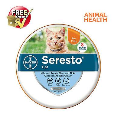 Seresto Bayer Animal Health Flea and Tick Collar for Cat with Free Shipping