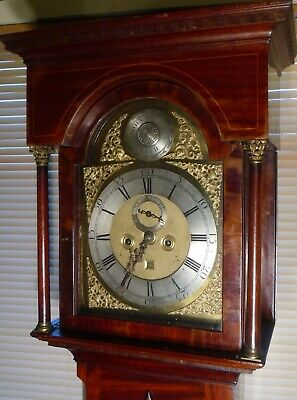 "Antique Mahogany  "" Leith ""  Brass  Dial 8 Day Grandfather / Longcase Clock"