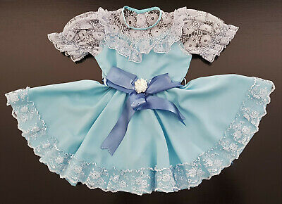 VINTAGE 1960's FRILLY & LACY DRESS FOR LITTLE GIRL, Sz 3 - DANCE, PARTY, COSTUME