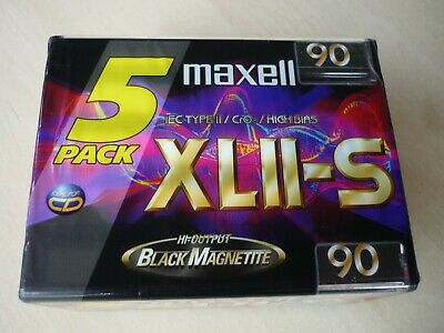 Maxell XL II-S 90 IEC Type II / Audio Cassette Tape / 5 Pack NEU/OVP