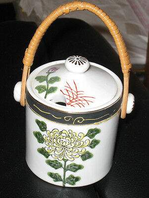 POTTERY JAR - WITH LID and  HANDLE