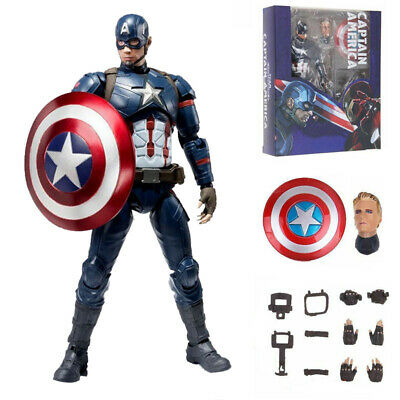 Hot Marvel Avengers S.H.Figuarts SHF Captain America Action Figure Toy Doll