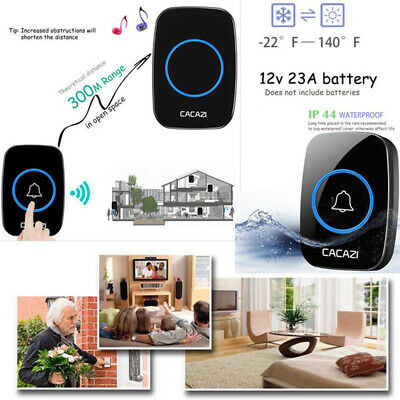 Smart Home Waterproof LED Wireless Doorbell 300M Remote Bell Battery Powered