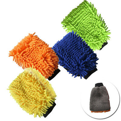 Car Wash Cleaner Microfiber Chenille Mitt Cleaning Glove Washing Mitt Care Tool