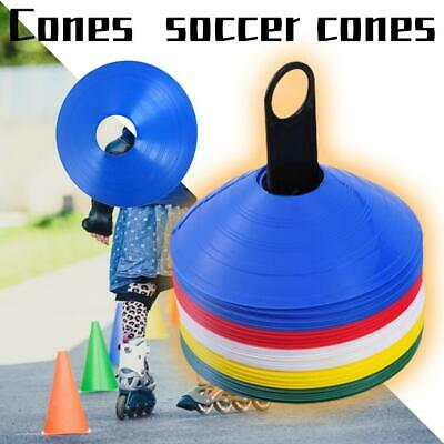 40pc Soccer Cones Disc Field Cone Markers Agility Training Football Kids Outdoor