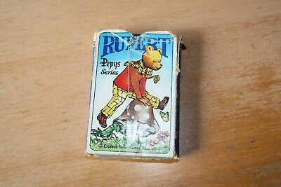 A Vintage and Collectable Rupert the Bear Playing Cards Game with instructions