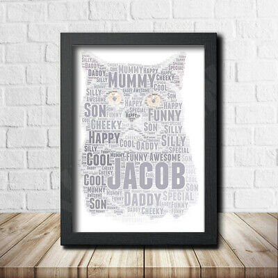 CAT 5 Pet Print Poster Word Art Gift Present Print love your cat gift