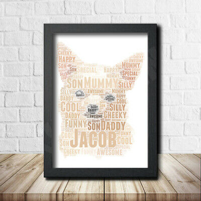 Chihuahua 1 Pet Print Poster Word Art Gift Present Print love your dog