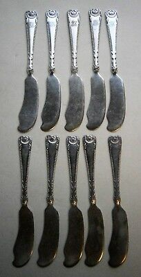 Set of (10) Vintage S.P. Butter Knives by Reed & Barton Silver Co.early 1900's