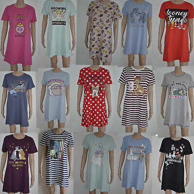 Ladies Disney Nightie Women's Pyjamas Girls Nightdress Nightshirt Primark 6 - 24