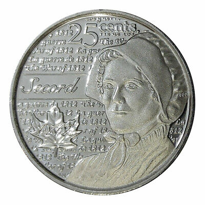 Canada quarter 25 cents coin, Heroes of 1812: Laura Secord, 2013