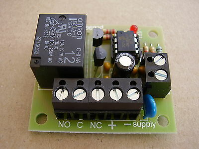 Latching relay board ( with single pushbutton input to latch / unlatch relay )