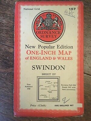 vintage cloth ordnance survey Swindon 1947 Cirencester