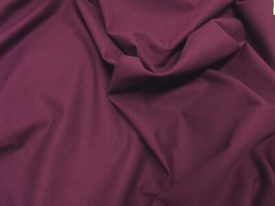 Quality Plain 60 SQ Pure Cotton Fabric Material - DARK PURPLE