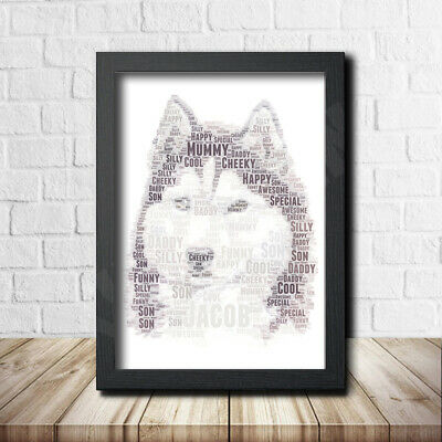 Husky 1 Nature Pet Print Poster Word Art Gift Present Print Love Your Dog