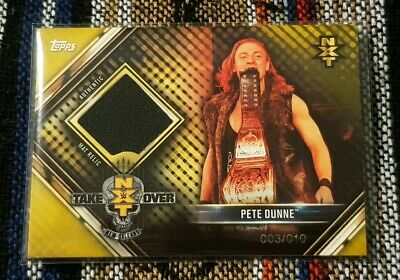 Topps WWE Champions Ring Mat Relic GOLD Parallel Card - Pete Dunne NXT - 1:3200