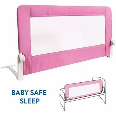 Baby Bed Rail Pink Easy Fit Toddler Safety Sleep Protection Nursery Furniture