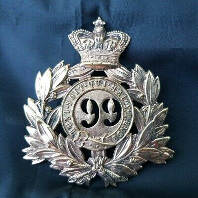 Victorian Other Ranks/Sergeants Shako Badge; 99Th (Lanarkshire) Regiment Of Foot