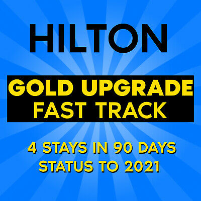 🍒 Hilton Gold Upgrade | Fast Track - 4 Stays to Extend Status to 2021 🍒