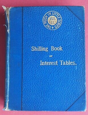 VERY COLLECTABLE  1891 ANTIQUE BOOK OF INTEREST TABLES by  SAXON & Co OF LONDON