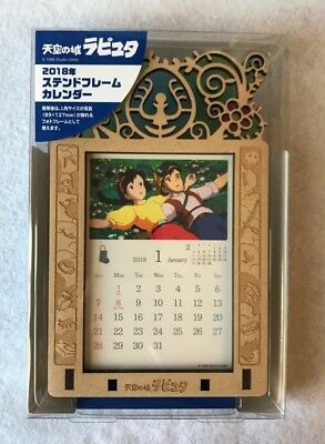 Castle in the Sky 2018 Calendar Stained Frame Ghibli Hayao Photo stand F/S