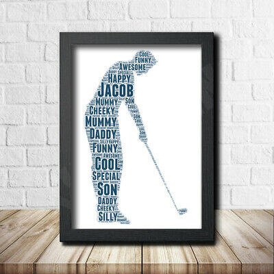 Golf 1 Sport Sign Print Poster Word Art Gift Present Print Birthday