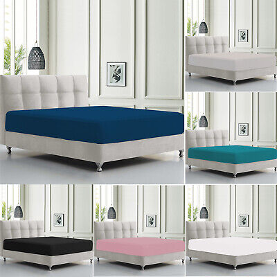 Extra Deep Fitted Sheet Bed Sheets For Bedroom Single Double King & Super King
