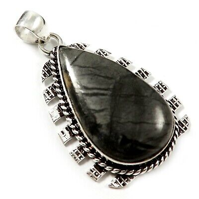 Picasso Jasper Natural Gemstone Pendant Silver Plated Jewelry GPAB46