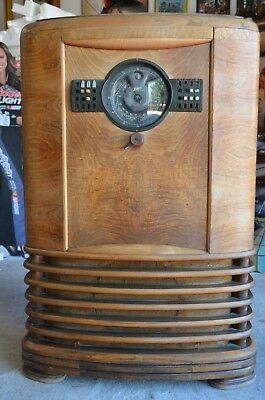Zenith 9-S-367 Shutter Dial 1939 Console Radio