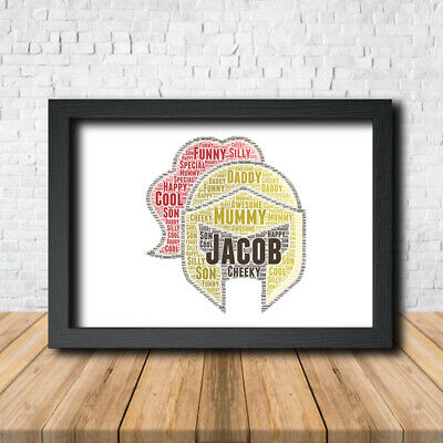Knight 1 Armour Sign Print Poster Word Art Gift Present Print Castle
