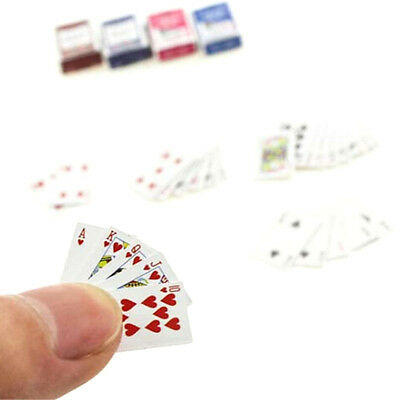 1Set 1:6/1:12Dollhouse Miniatures Accessories Playing Cards Poker Home Bar P tc